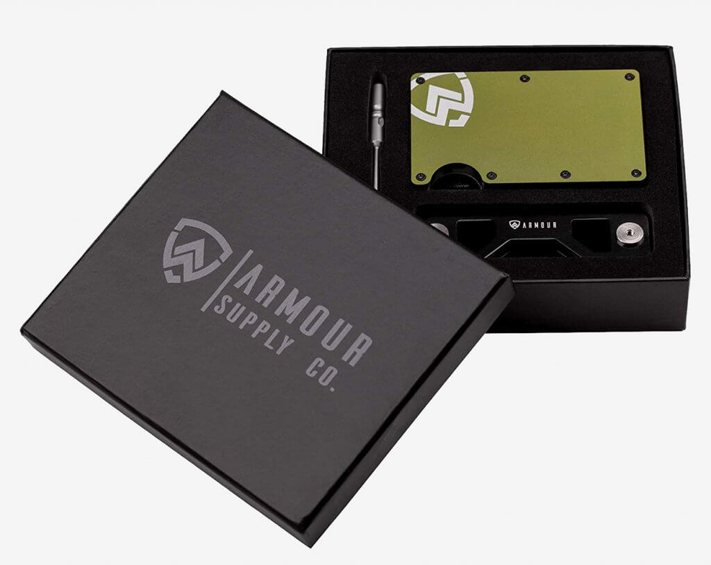 Armour Supply Co. RFID Wallet packaging