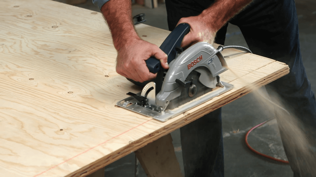 Bosch CS5 Circular Saw angle cut through plywood