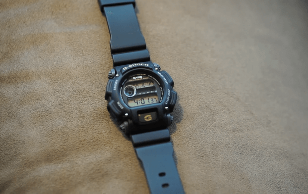 Casio G-Shock Sport Watch on pillow