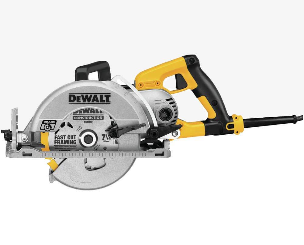 Dewalt DWS535B Worm Drive Circular Saw side