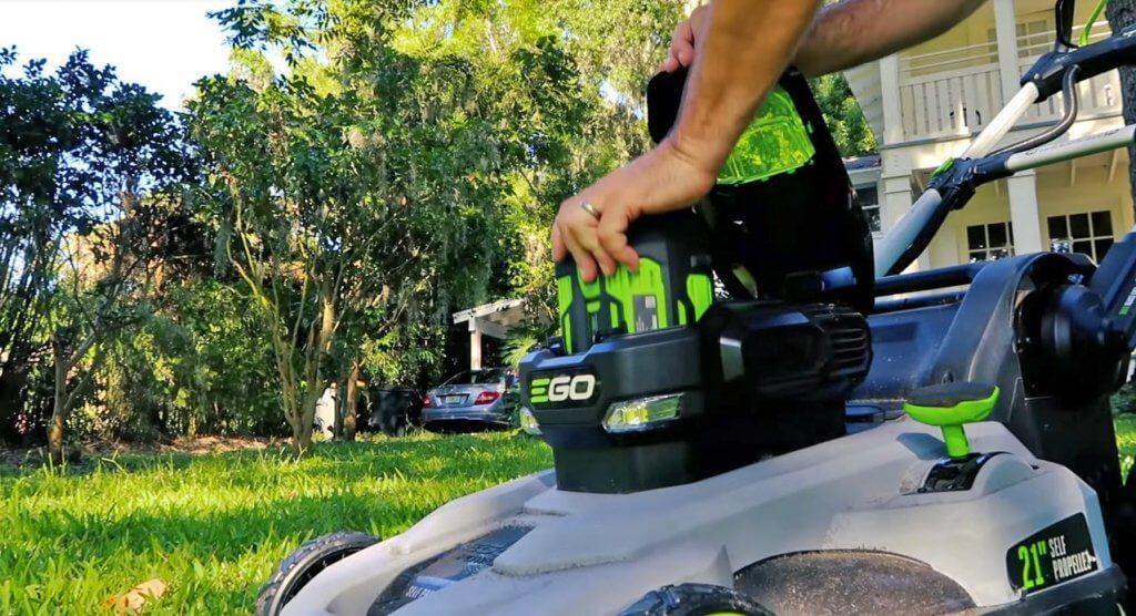 EGO Power+ Cordless Lawn Mower battery