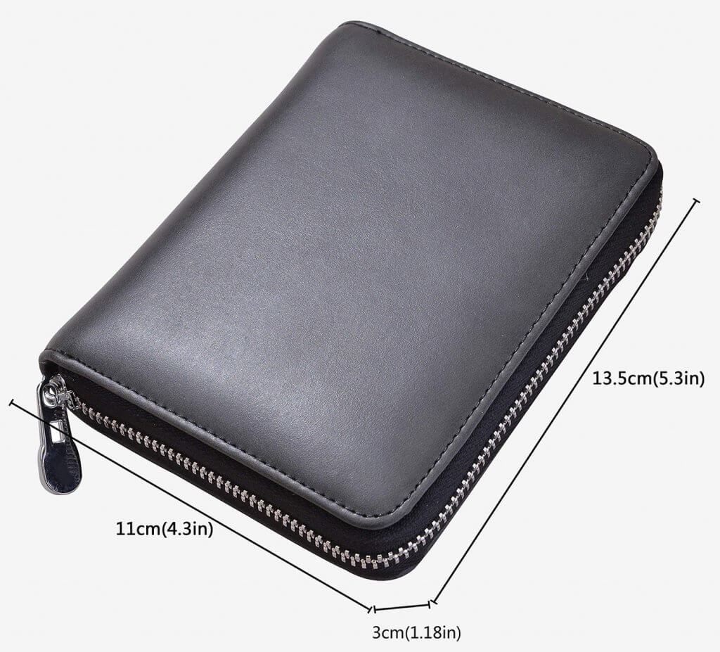 Easyoulife Passport RFID Travel Wallet measurements
