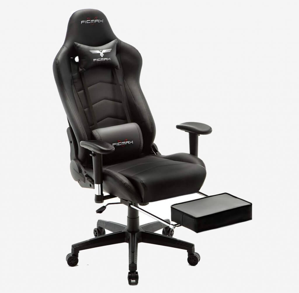 Ficmax Massage Gaming Chair foot rest