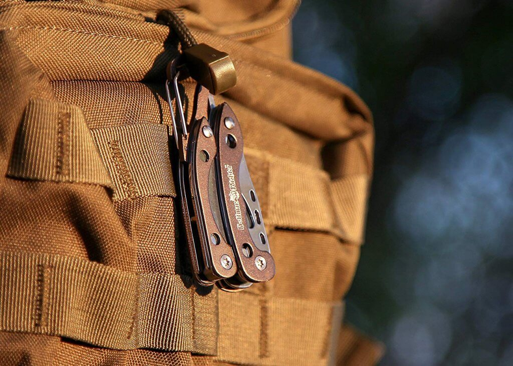 Hoffman Richter Multi-Tool on MOLLE backpack