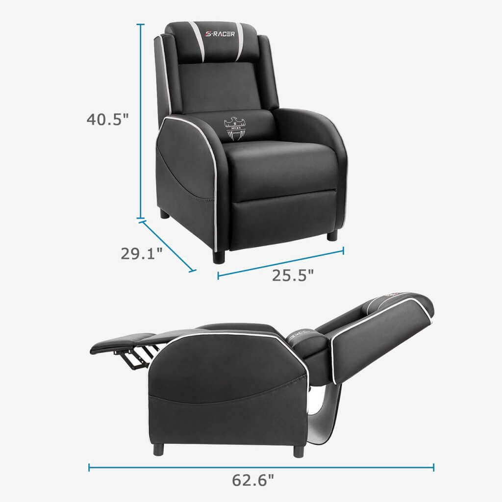 Homall Gaming Recliner reclined