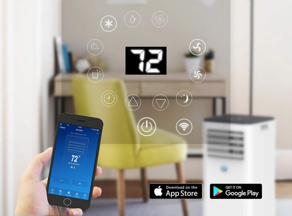 JHS 10,000 BTU Air Conditioner smartphone app
