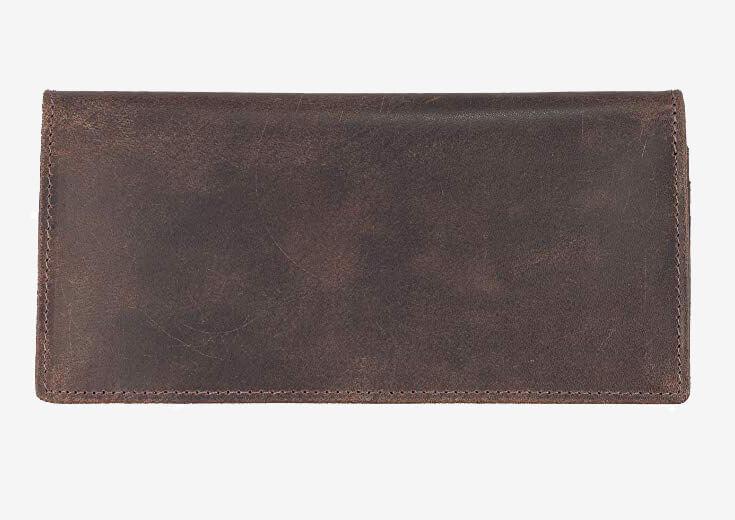 Mou Meraki Vintage Long Bi-Fold RFID Wallet