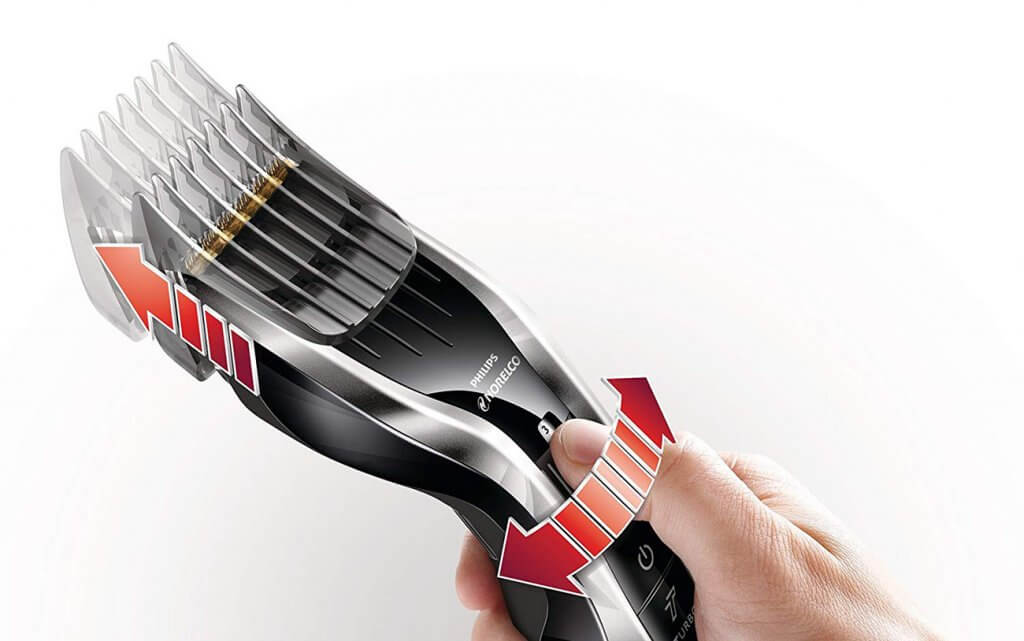 Philips Norelco Hair Clippers Series 7100 length adjustments