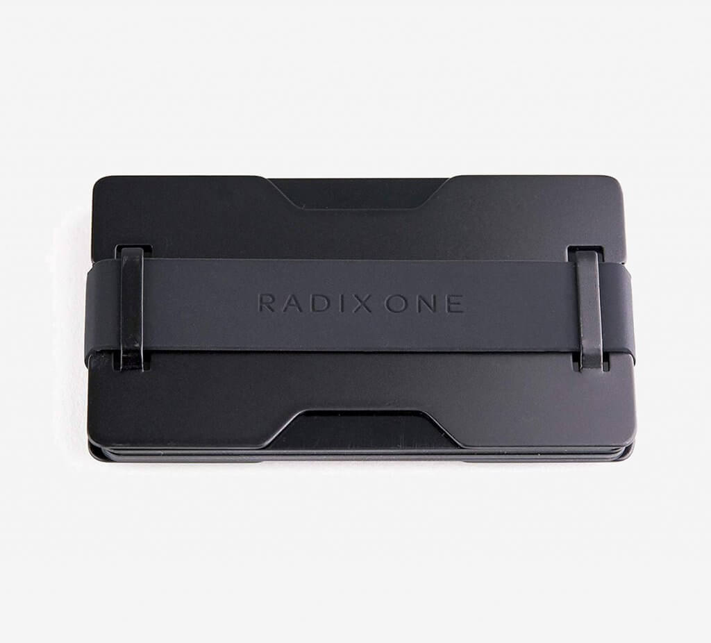 Radix One Black Steel RFID Wallet