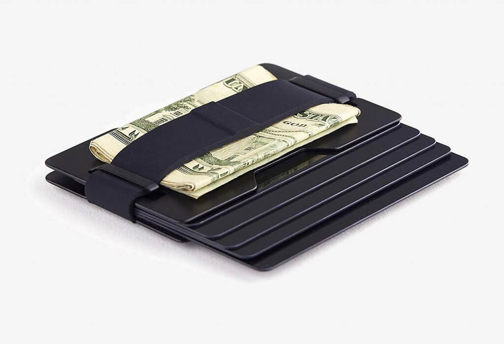 Radix One Black Steel RFID Wallet card slot