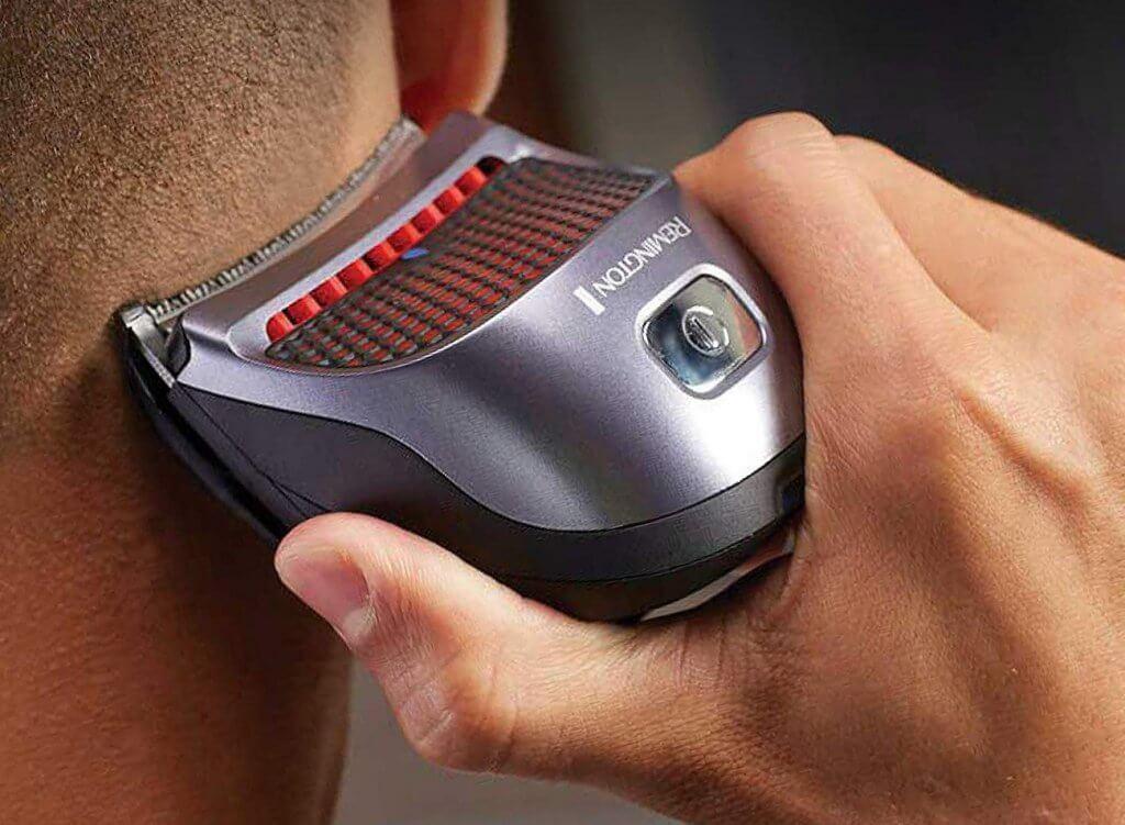 Remington Shortcut Pro Haircut Kit in action