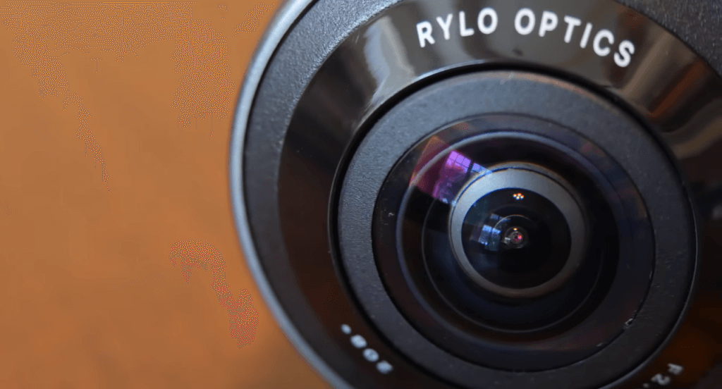 Rylo 360 5.8K close-up for lense