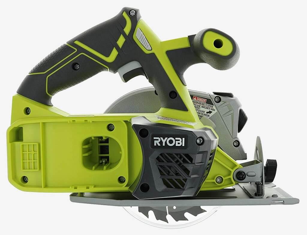 Ryobi P506 One+ Cordless Circular Saw side