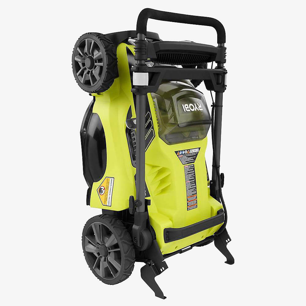 Ryobi RY40180 Cordless Lawn Mower folded