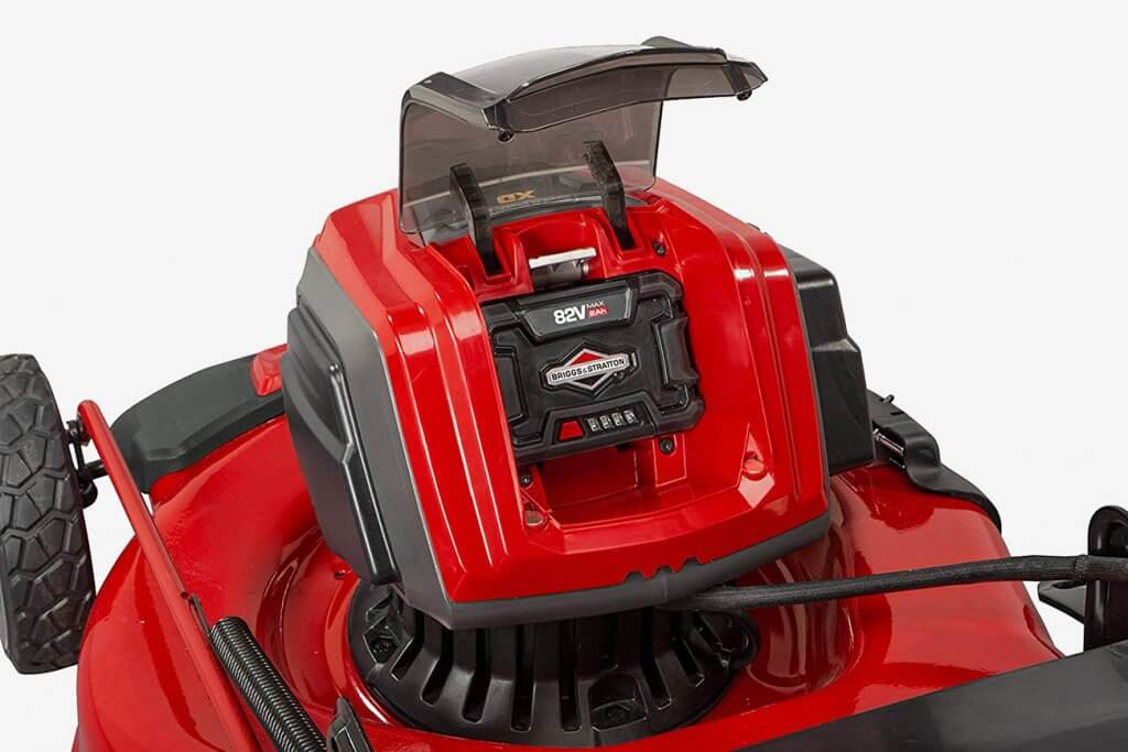 Snapper XD Cordless Lawn Mower battery compartment