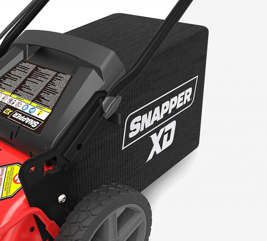 Snapper XD Cordless Lawn Mower grass storage