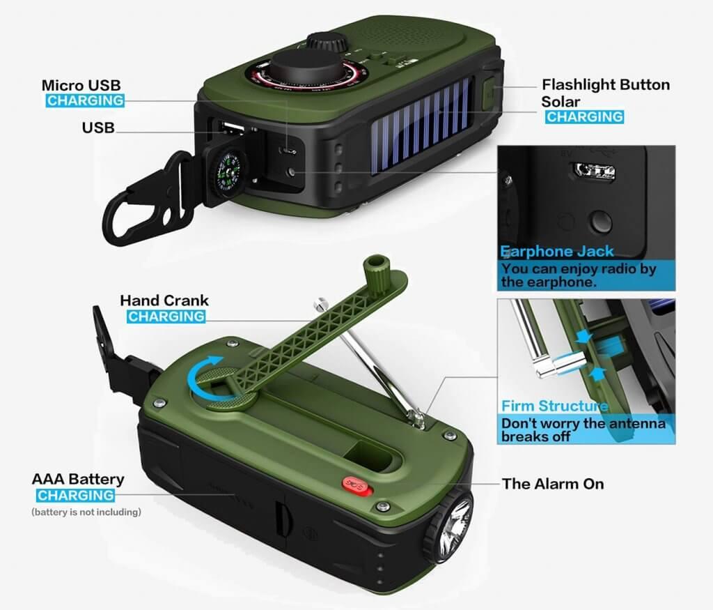 VMEI Emergency Radio features