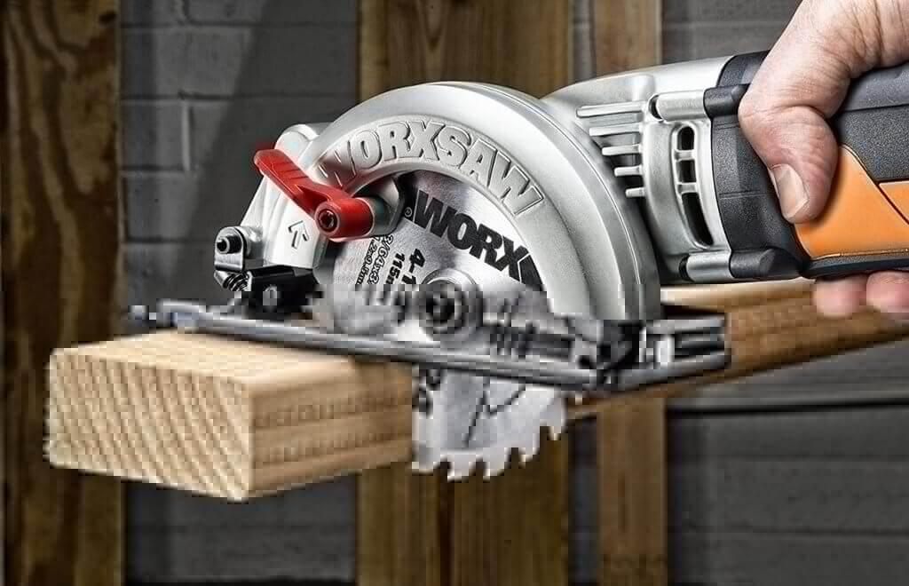 WORX Worxsaw 4-12 Inch Compact Circular Saw WX429L close-up