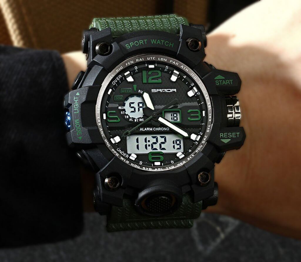 Yihou tactical watch on wrist