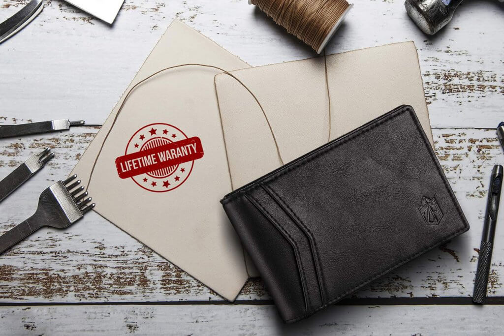 Zitahli Bi-Fold RFID Wallet and tools
