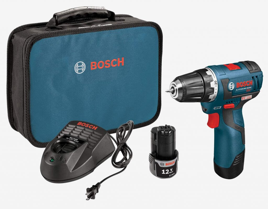 Bosch 12V MAX Brushless Drill & Driver (PS32-02) and accessories