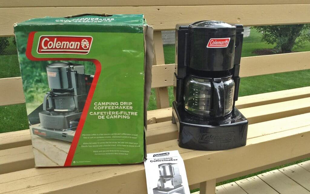 Coleman Camping Coffee Maker and packaging