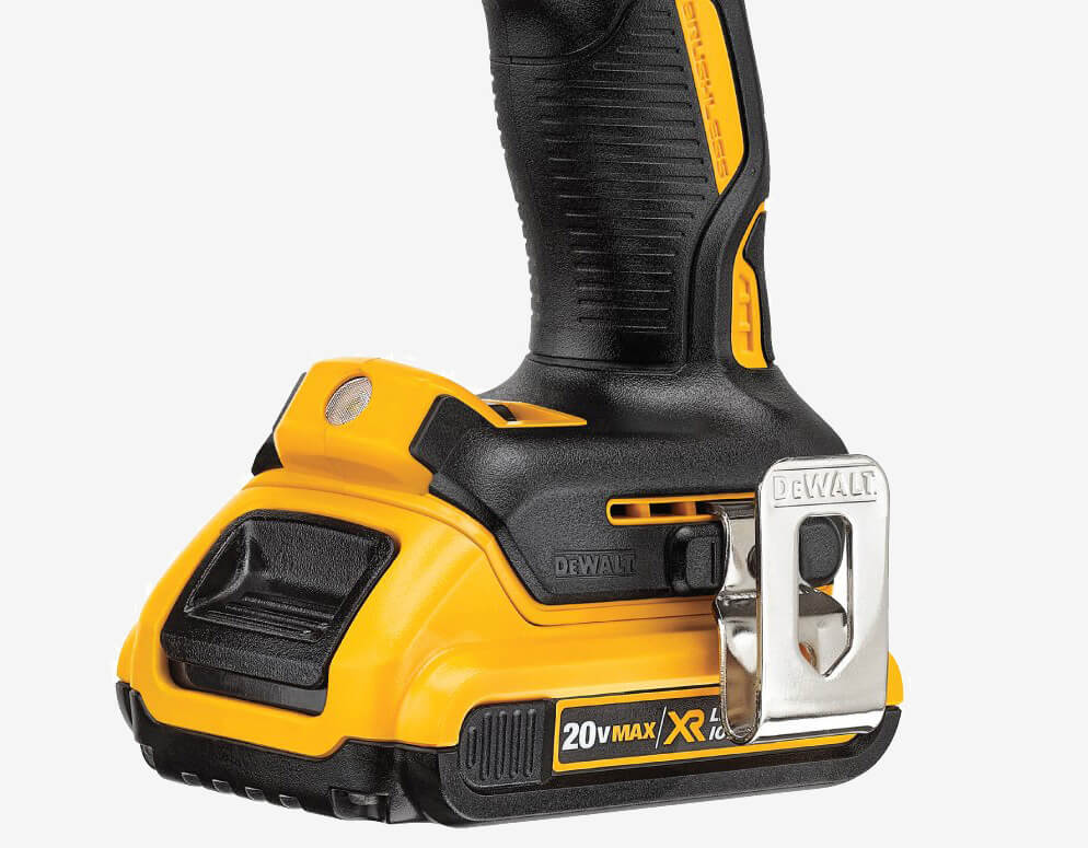 DEWALT 20V MAX XR Brushless Drill & Driver (DCD791D2) grip