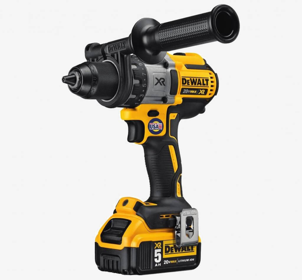 DEWALT 20V MAX XR Brushless Drill & Driver (DCD991B) and grip