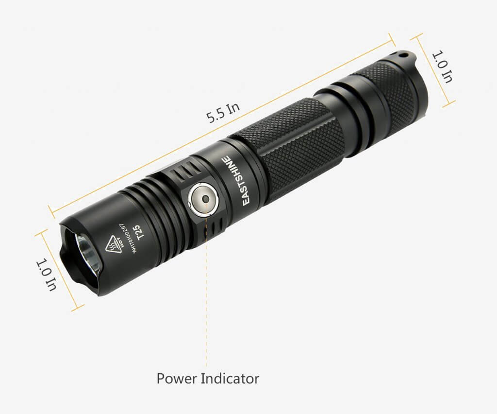 EASTSHINE Tactical Flashlight measurements