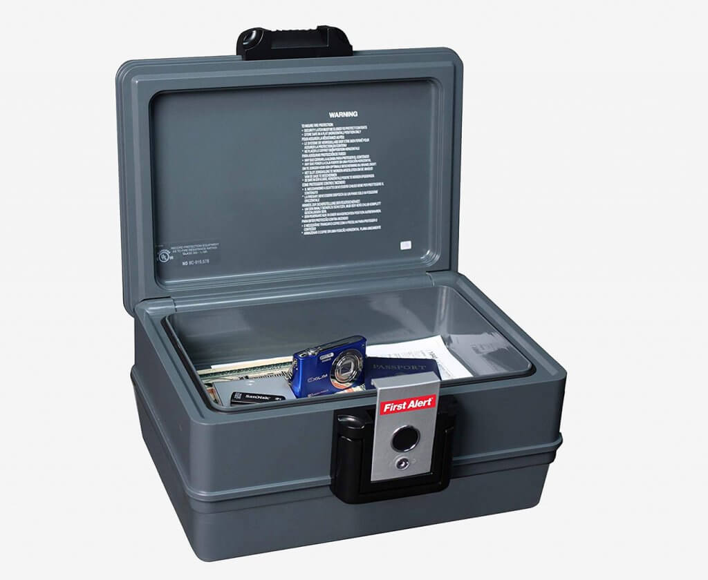 First Alert 2030F Fireproof And Waterproof Safe open