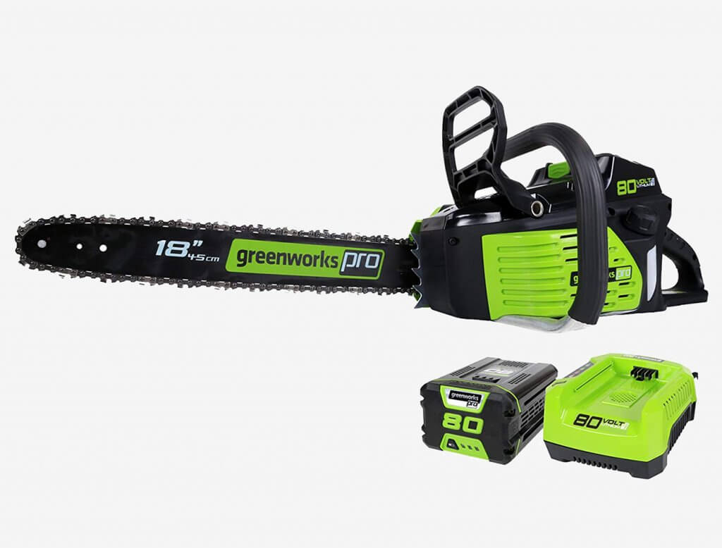Greenworks Pro 18-Inch Cordless Electric Chainsaw