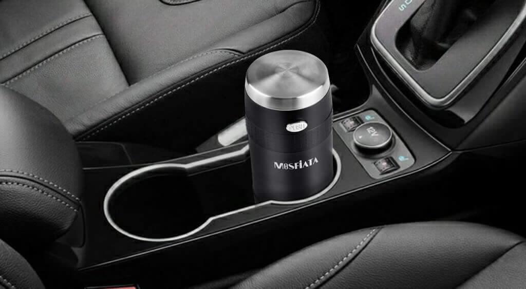 MOSFiATA Portable Coffee Maker in a car