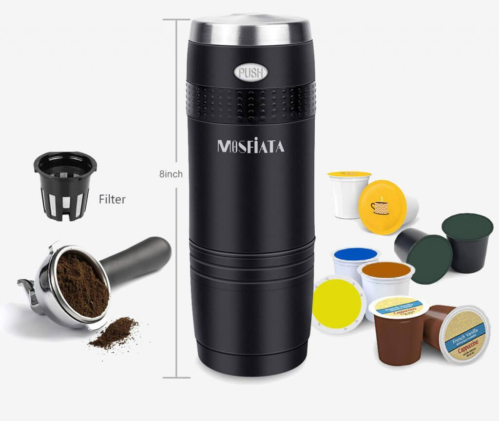 MOSFiATA Portable Coffee Maker measurements