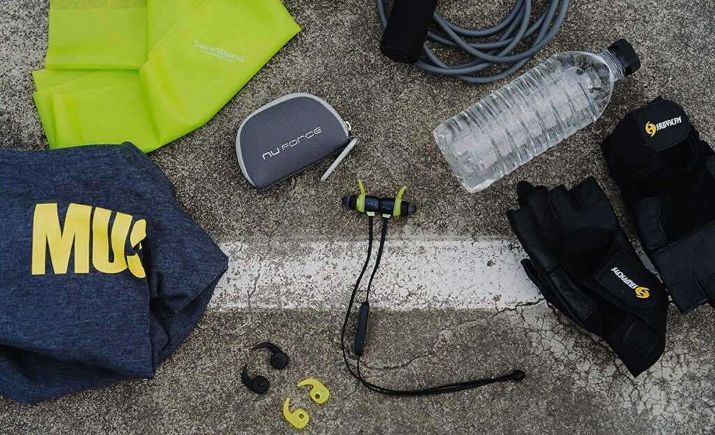 Optoma NuForce BE Sport4 and workout gear