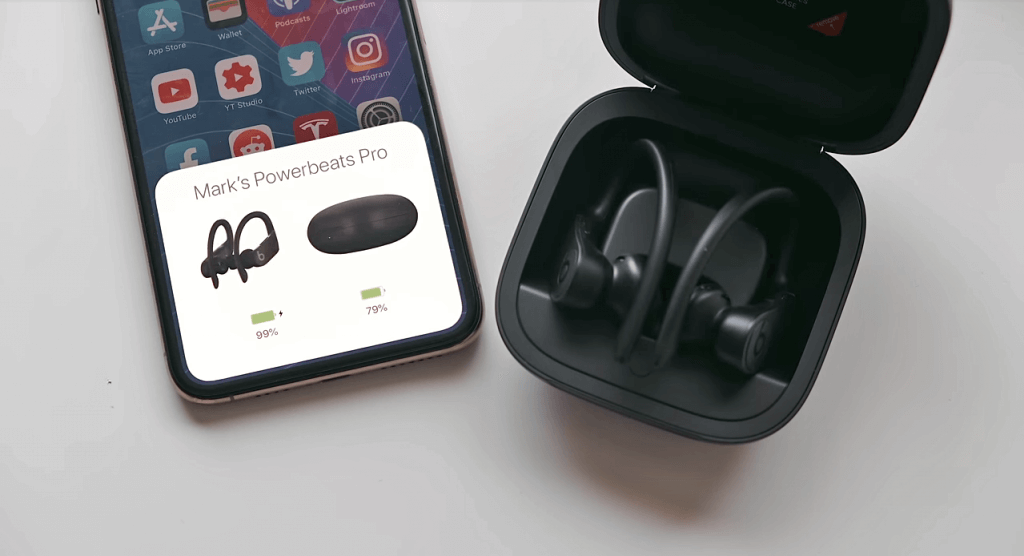 Powerbeats Pro Totally Wireless Earphones case and iPhone