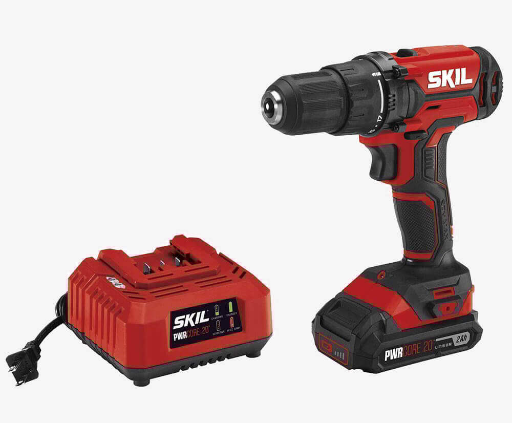 SKIL 20V PWRCore Drill & Driver (DL527502) and battery