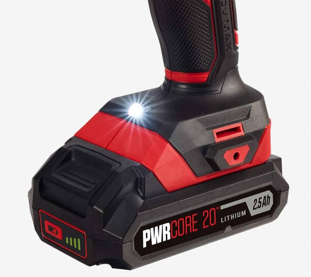 SKIL 20V PWRCore Drill & Driver (DL527502) grip