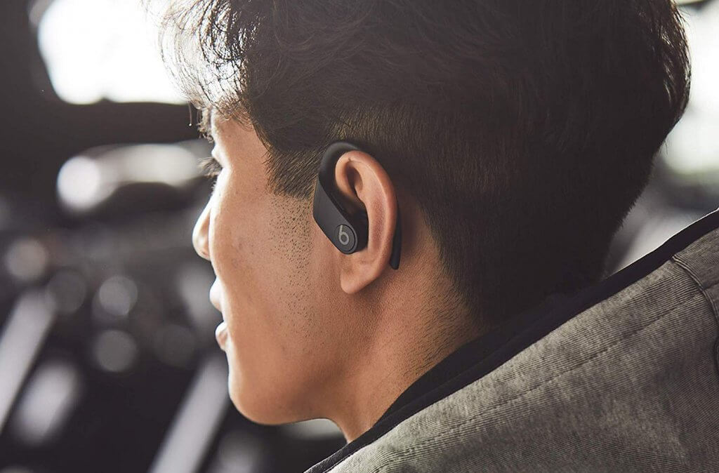 Someone wearing the Powerbeats Pro Totally Wireless Earphones