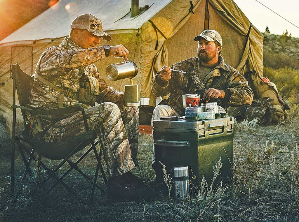 Stanley Cook + Brew Camping Coffee Maker on a hunting trip