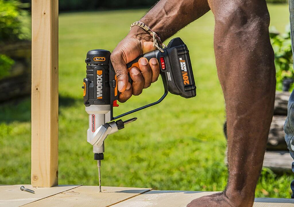WORX 20V Switchdriver 2-In-1 Drill & Driver (WX176L) on wood