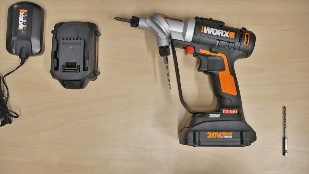 WORX 20V Switchdriver 2-In-1 Drill & Driver (WX176L) unboxed