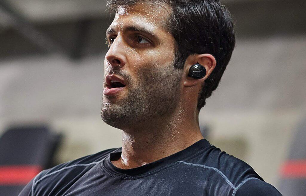 jogger wearing the Bose SoundSport Free headphones