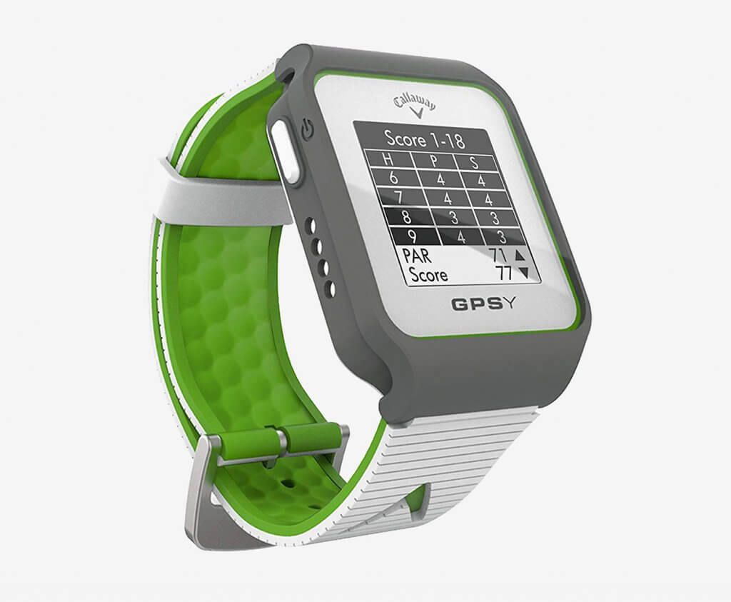 Callaway GPSy Golf Watch in white and green