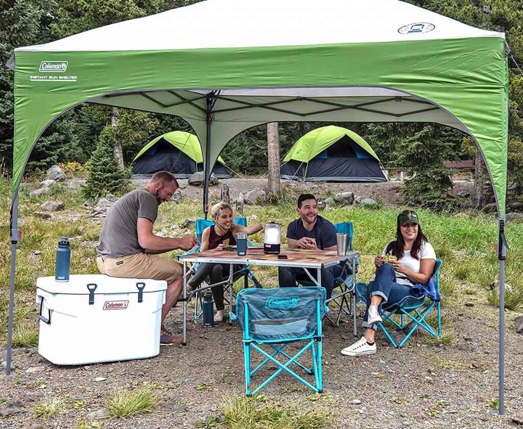 Camping with the Coleman Canopy Tent