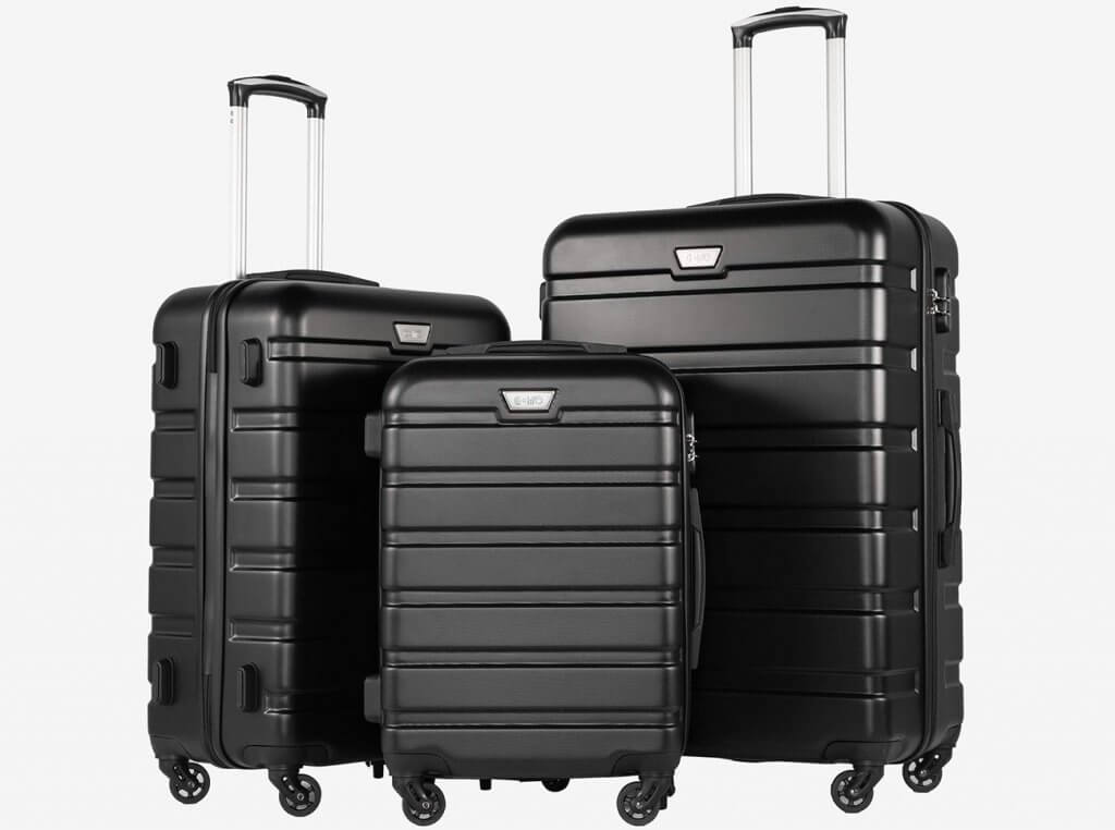 Coolife 3-Piece Spinner Hardside Luggage Set