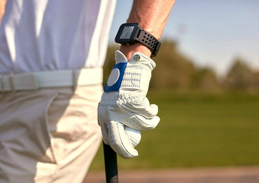 Garmin Approach S20 on wrist of golfer