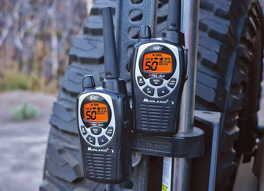 Midland GXT1000VP4 GMRS on truck suspension