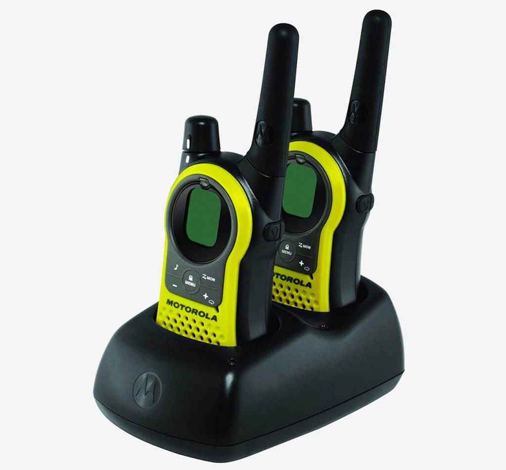 Motorola Talkabout Radio MH230R on docking station