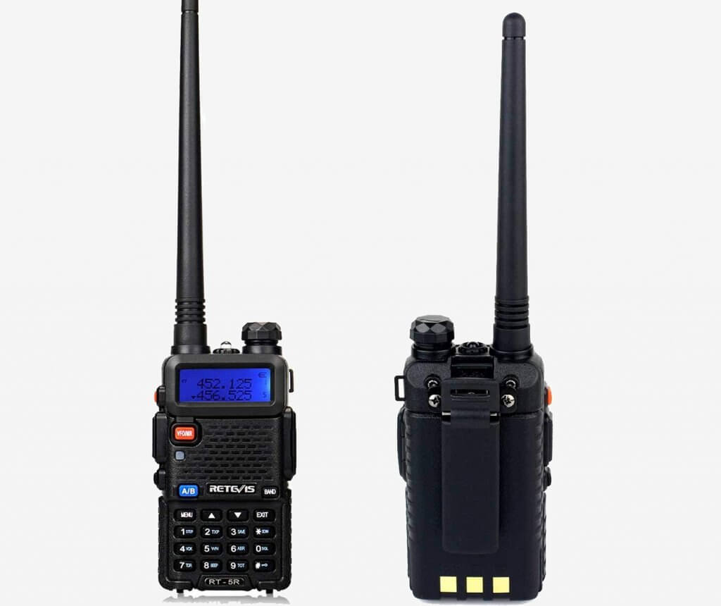 Retevis RT-5R Two-Way Radio 128CH front and back