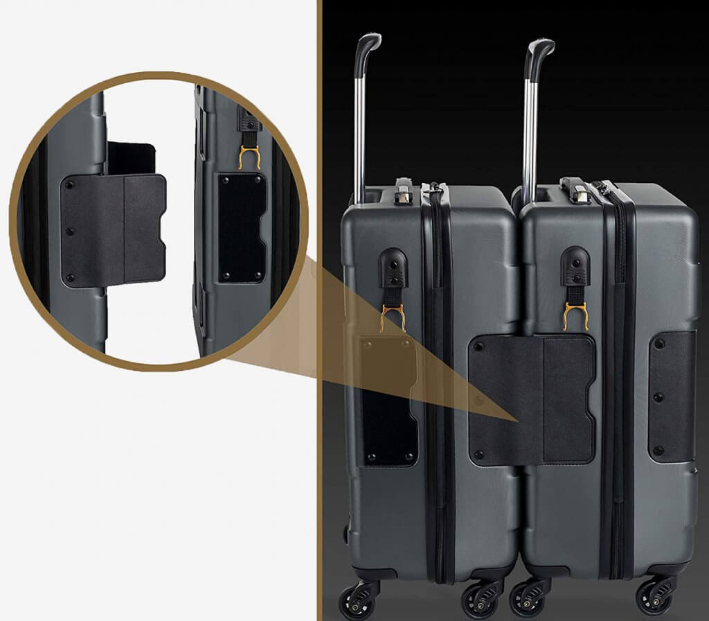 Side of the TACH TUFF 3-Piece Luggage Set